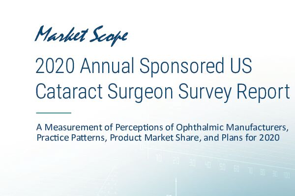 2020 Annual Sponsored US  Cataract Surgeon Survey Report, May, 2020